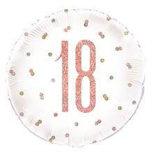 "Rose Gold Holographic 18th Birthday 18"" Foil 