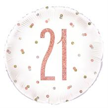 "Rose Gold Holographic 21st Birthday 18"" Foil 