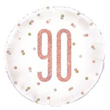 "Rose Gold Holographic 90th Birthday 18"" Foil 