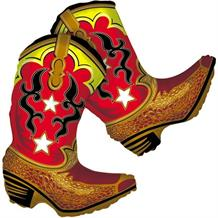 "Cowboy Boots Shaped 36"" Foil 