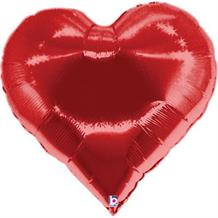 "Red Heart Casino Shaped 30"" Foil 