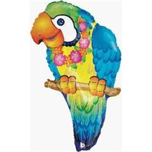 "Tropical Parrot Shaped 29"" Foil 