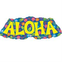 "Aloha Luau Shaped 38"" Foil 