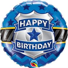 "Police Badge Happy Birthday 18"" Foil 