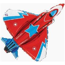 "Fighter Jet | Plane Shaped 38"" Foil 