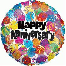 "Happy Anniversary Dots 18"" Foil 
