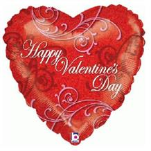 "Happy Valentines Day Heart 18"" Foil 