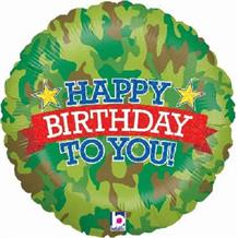 "Camouflage Happy Birthday 18"" Foil 