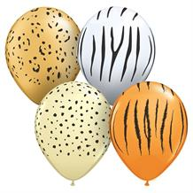 "Safari | Animal Assortment | Print 5"" Qualatex Latex Party Balloons"