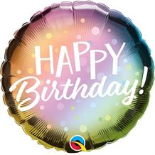 "Metallic Pastel Happy Birthday 18"" Foil 