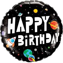 "Space Man Happy Birthday 18"" Foil 
