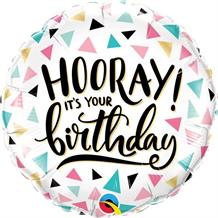 "Hooray It's Your Birthday 18"" Foil 