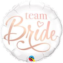 "Team Bride | Rose Gold 18"" Foil 