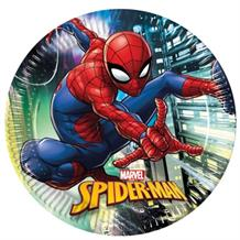Spiderman Team Up 23cm Party Plates