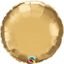 "Chrome Gold Qualatex Plain Coloured Circle 18"" Foil 
