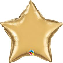 "Chrome Gold Qualatex Plain Coloured Star 20"" Foil 