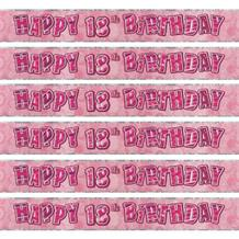 Pink Glitz Party 18th Birthday Foil Banner | Decoration