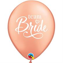 Team Bride | Rose Gold Party Latex Balloons