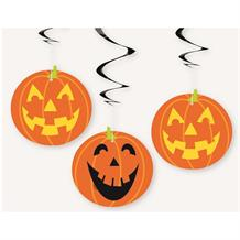 Pumpkin Party Hanging Swirl Decorations