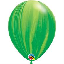 "Green Colours SuperAgate Marble 11"" Qualatex Decorator Latex Party Balloons"