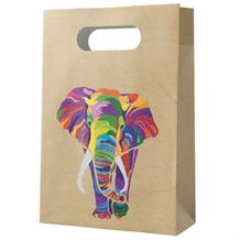 Colourful Elephants Party Favour Paper Loot Bags