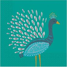 Peacock Party Napkins | Serviettes