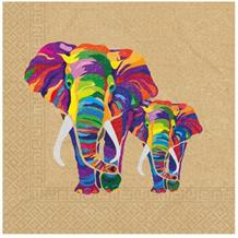 Colourful Elephants Party Napkins | Serviettes