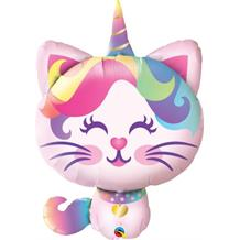 Magical Caticorn | Unicorn Shaped Giant Foil | Helium Balloon