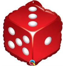 "Casino Dice Shaped 18"" Foil 