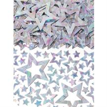 Silver Shimmer Stars Party Table Confetti | Decoration
