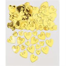 Gold Loving Heart Table Confetti | Decoration