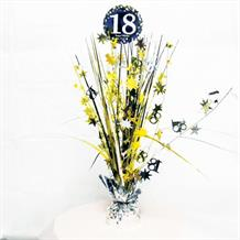 Gold Sparkle 18th Birthday Party Table Centrepiece