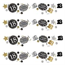 Gold Sparkle 18th Birthday Party Table Confetti | Decoration