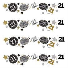 Gold Sparkle 21st Birthday Party Table Confetti | Decoration