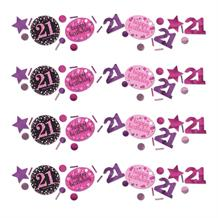 Pink Sparkle 21st Birthday Party Table Confetti | Decoration
