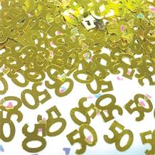 Gold 50 Table Confetti | Decoration