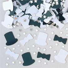 Top Hat and Tails Wedding Table Confetti | Decoration