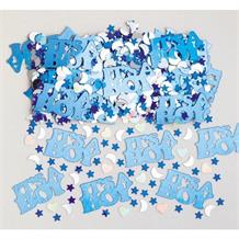 It's A Boy | Baby Shower Blue & Silver Party Table Confetti | Decoration