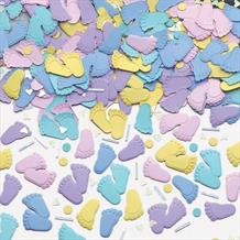 Pitter Patter | Feet Baby Shower Party Table Confetti | Decoration