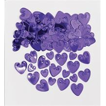 Purple Loving Hearts Table Confetti | Decoration
