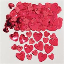 Red Loving Hearts Table Confetti | Decoration