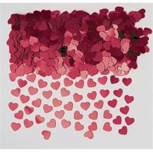 Burgundy Mini Love Heart Table Confetti | Decoration