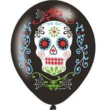 Day of the Dead Halloween Party Latex Balloons