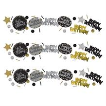 Gold Sparkle Happy Birthday Party Table Confetti | Decoration