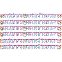 Unicorn Happy Birthday Paper Letter Banner