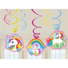 Unicorn Party Hanging Swirls