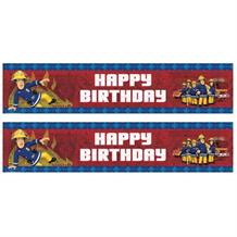 Fireman Sam Happy Birthday 2017 Foil Banner