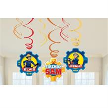 Fireman Sam 2017 Hanging Swirl Decorations