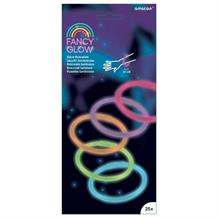 Fancy Glow Stick | Glow in the Dark Bracelets 25 Pack Assorted Colours
