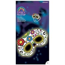 Glow in the Dark White Skull | Day of the Dead Party Mask Favours